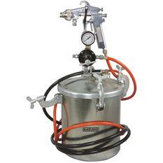 Blackridge Air Spray Gun, Siphon Feed - Paint Tank 10 Litre, , scanz_hi-res