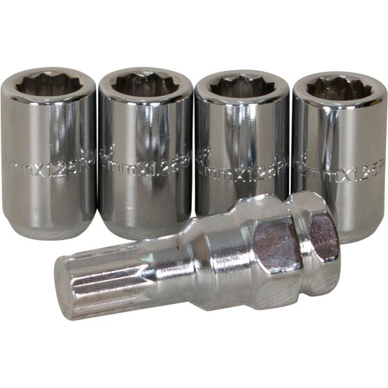 Calibre Wheel Nuts, Tapered Slim, Chrome - SLIMN12125, 12mm x 1.25mm, , scanz_hi-res
