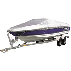 CoverALL Boat Cover Silver Protection - Water Resistant, Suits 12 - 14ft Boats, , scanz_hi-res