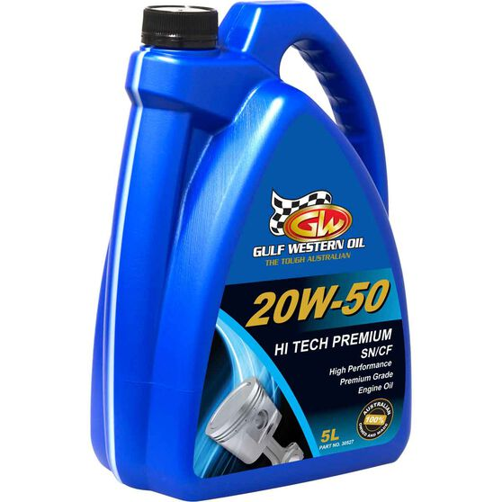 Gulf Western Hi Tech Premium Engine Oil - 20W-50, 5 Litre, , scanz_hi-res