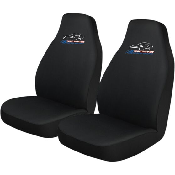 Performance Racing Slip On Seat Covers - Black Built-in Headrests Size 60 Slip On Front Pair, , scanz_hi-res