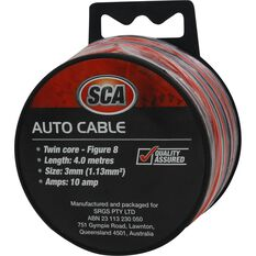 SCA Auto Cable - 10 AMP, 4m, Twin Core, Black / Red, , scanz_hi-res