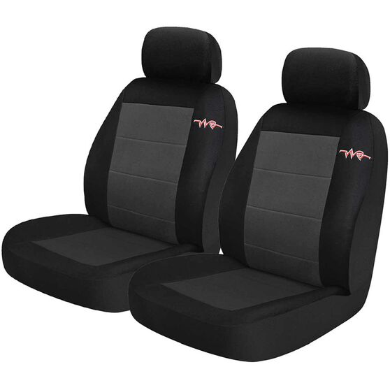 Cord Seat Covers - Grey, Adjustable Headrests, Size 30, Front Pair, Airbag Compatible, , scanz_hi-res