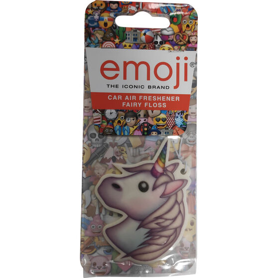 Emoji Unicorn Air Freshener - Fairy Floss, , scanz_hi-res