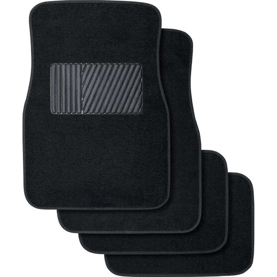 Best Buy Car Floor Mats 4 Pack - Carpet, Black, , scanz_hi-res