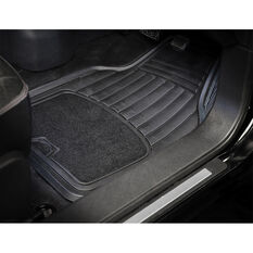 ArmoraAll Car Floor Mats - Carpet/Rubber, Black, Set of 4, , scanz_hi-res