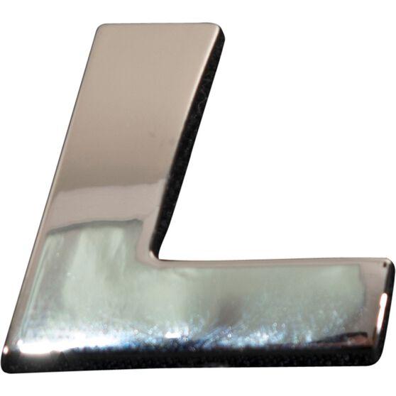 3D Chrome Badge - Letter L, , scanz_hi-res