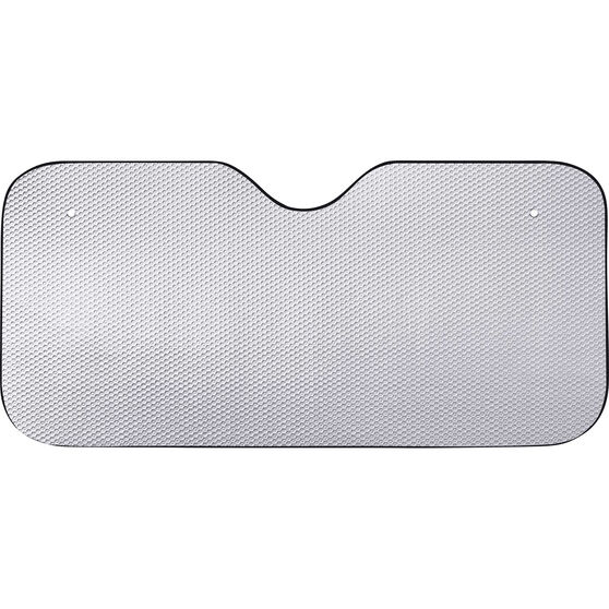 SCA Tall Bubble Sunshade - Matte Silver, Accordion, Front, , scanz_hi-res