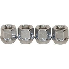 Wheel Nuts, Tapered Open End, Chrome - 12X1.5MM, , scanz_hi-res