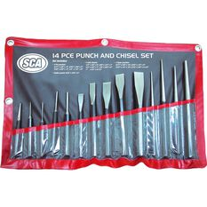 SCA Punch and Chisel Set - 14 Pieces, , scanz_hi-res