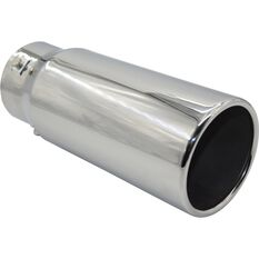 Stainless Steel Exhaust Tip - Straight Cut Rolled Tip suits 52mm to 76mm, , scanz_hi-res