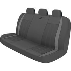 WR Fusion Seat Cover - Grey/Charcoal, Adjustable Zips, Rear, Size 06H, , scanz_hi-res