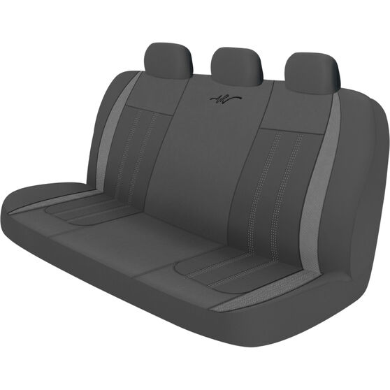 WR Fusion Seat Cover - Black/Grey, Adjustable Zips, Rear, Size 06H, , scanz_hi-res