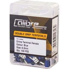 Crimp Terminal Female Blue 6.3mm 100Pk, , scanz_hi-res