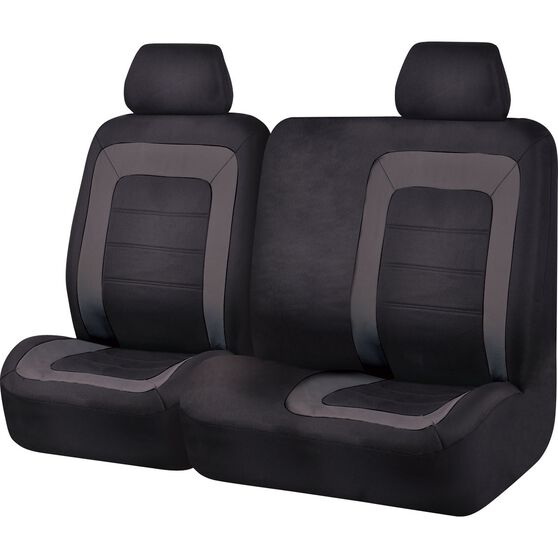 Oxford Ute Seat Covers - Black, Size 301, Front Bucket & Bench (w/out cut out), , scanz_hi-res