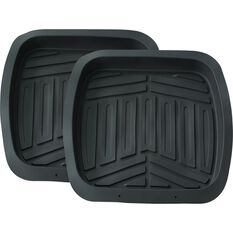 Ridge Ryder Deep Dish Car Floor Mats - Black Rear Pair, , scanz_hi-res