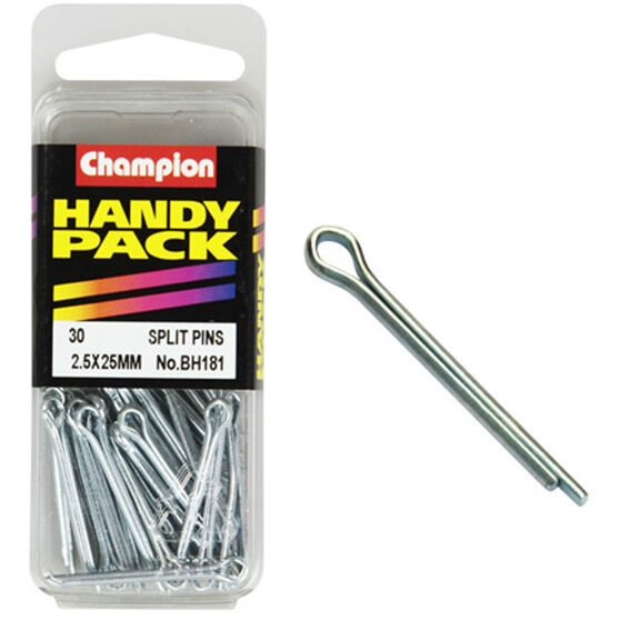 Champion Split Pins - 2.5mm X 25mm, BH181, Handy Pack, , scanz_hi-res