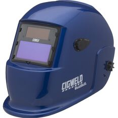 Cigweld Adjustable Auto Shade Welding Helmet - Shade 9-13, Blue, , scanz_hi-res