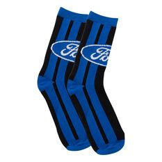 Ford Blue Oval Stripe Socks, , scanz_hi-res