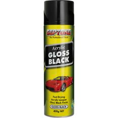 Septone Acrylic Aerosol Paint - Gloss Black, 400g, , scanz_hi-res