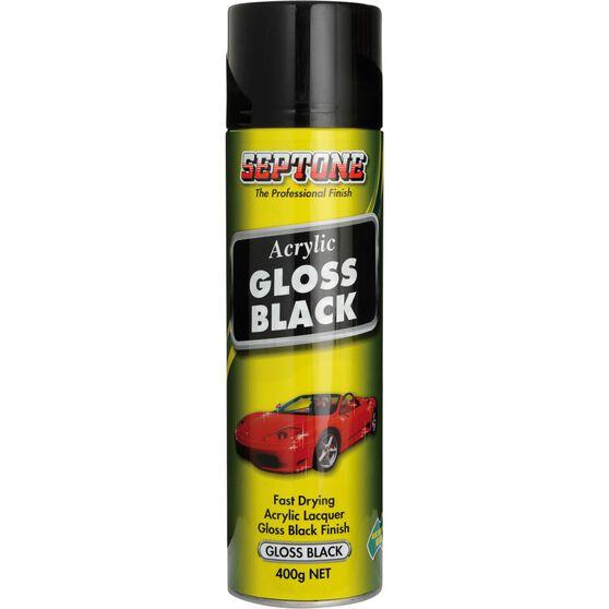 Septone Acrylic Aerosol Paint - Gloss Black, 400g, , scanz_hi-res