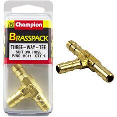 Champion T Pieces - 3 / 8inch, Brass, , scanz_hi-res