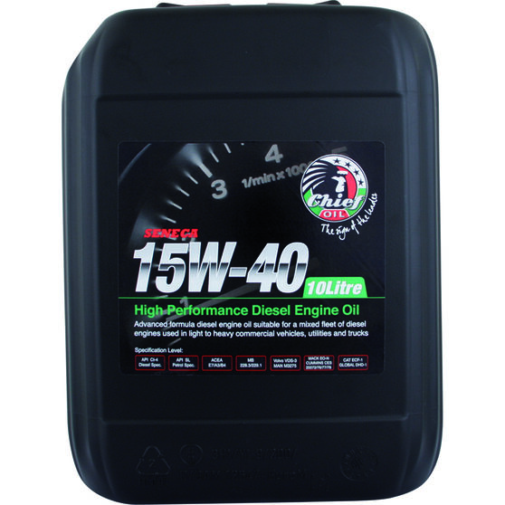 Chief Seneca Diesel Engine Oil - 15W-40 10 Litre, , scanz_hi-res
