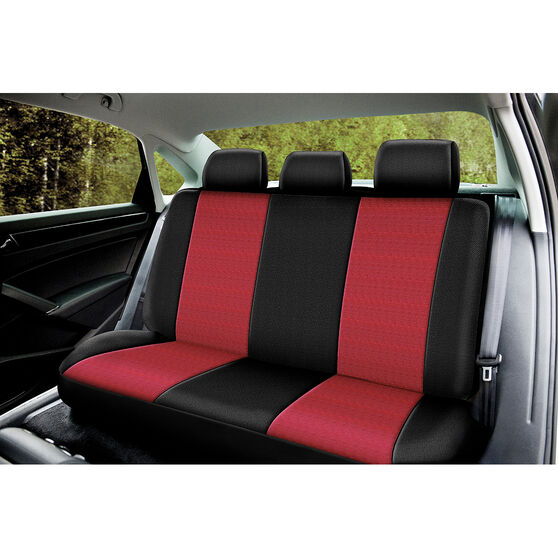 SCA Cord Seat Covers - Red/Black, Size 06H, Rear Seat, , scanz_hi-res
