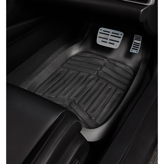 Ridge Ryder Deep Dish Car Floor Mats - Black Front Pair, , scanz_hi-res