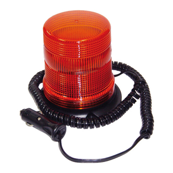 SCA Flashing Safety Light - 12V, Amber, Magnetic Base, , scanz_hi-res