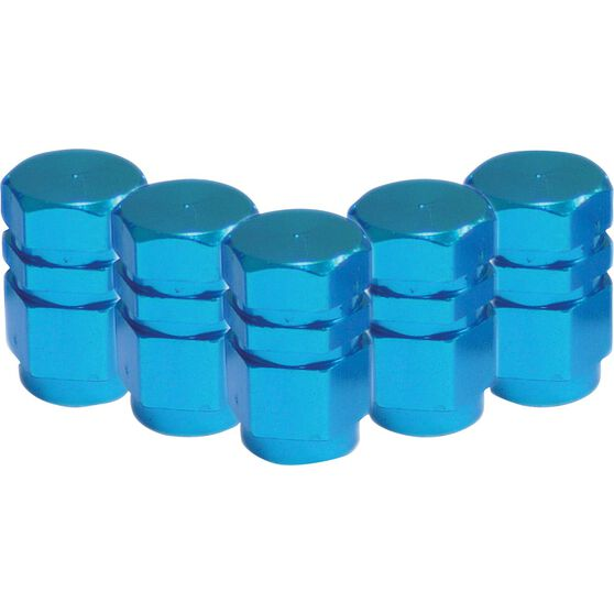 SCA Valve Stem Caps - Blue, 5 Pack, , scanz_hi-res