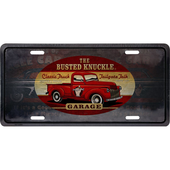 Busted Knuckle Tin Sign - Truck, , scanz_hi-res