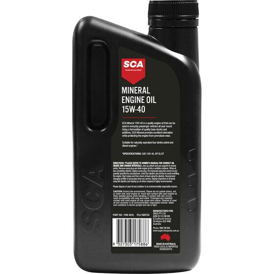 SCA Mineral Engine Oil 15W-40 1 Litre, , scanz_hi-res