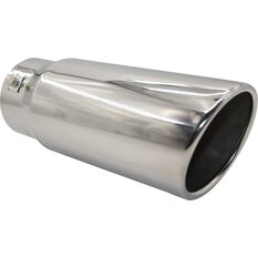 Calibre Stainless Steel Exhaust Tip - Angle Cut Rolled Tip suits 52mm to 76mm, , scanz_hi-res