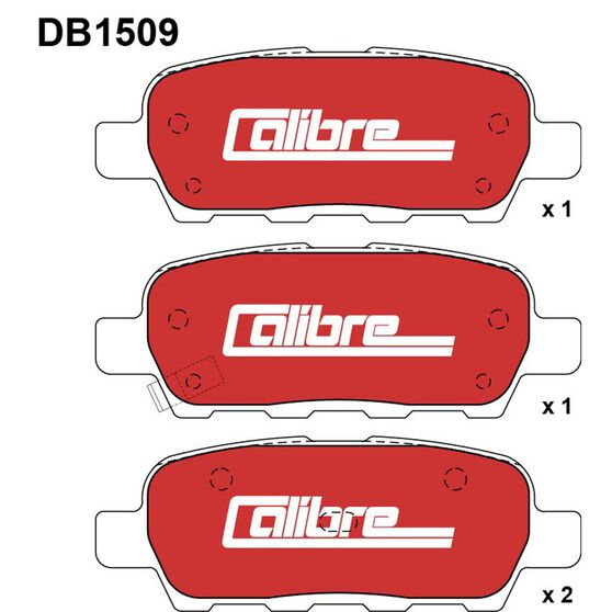 Calibre Disc Brake Pads - DB1509CAL, , scanz_hi-res