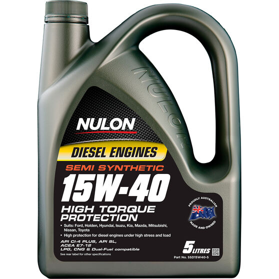 Nulon Semi Synthetic High Torque Diesel Engine Oil - 15W-40 5 Litre, , scanz_hi-res