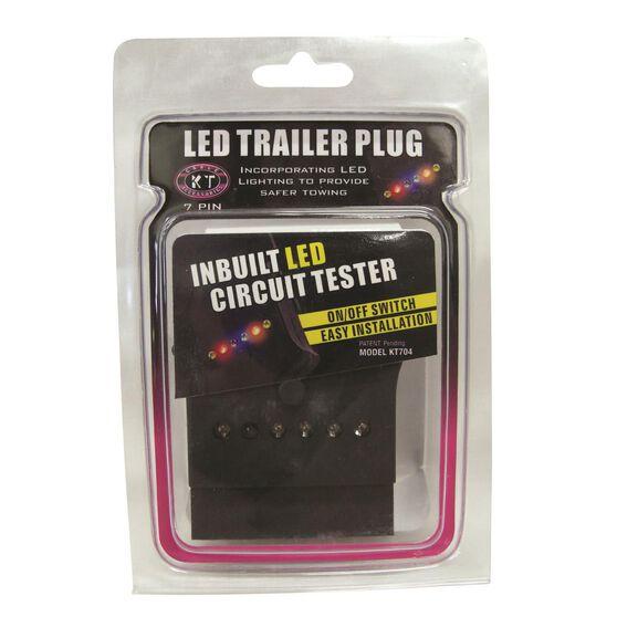 Trailer Plug - 7 Pin Flat, LED, , scanz_hi-res
