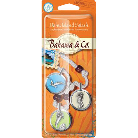 Bahama & Co Charm Necklace Air Freshener - Oahu Island Splash, , scanz_hi-res
