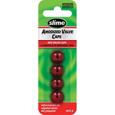 Slime Valve Caps - Anodized, Red, 4 Piece, , scanz_hi-res