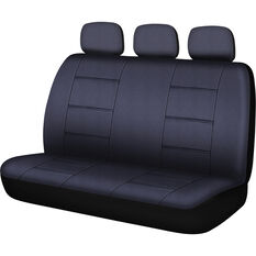 SCA Leather Look Seat Covers - Black, Built-In Headrestss, Size 06H, Rear Seat, , scanz_hi-res
