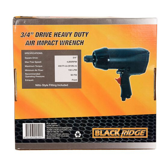 """Blackridge Heavy Duty Air Impact Wrench - 3/4"""" Drive, , scanz_hi-res"""