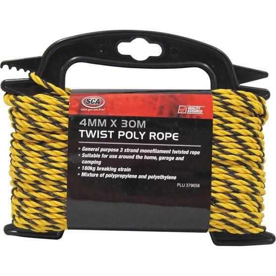SCA 3 Strand Twist Poly Rope - 4mm X 30m, , scanz_hi-res