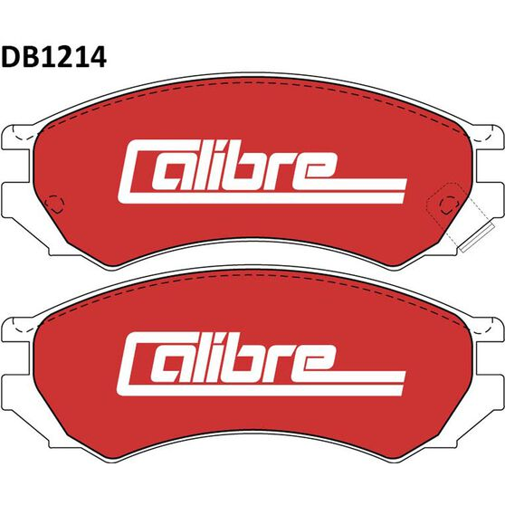Calibre Disc Brake Pads - DB1214CAL, , scanz_hi-res