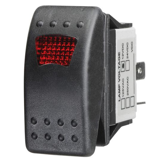 Ridge Ryder Sealed Rocker Switch - On / Off, Red LED, , scanz_hi-res