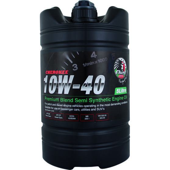 Chief Cherokee Engine Oil - 10W-40 5 Litre, , scanz_hi-res