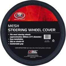 Steering Wheel Cover - Mesh, Black, 380mm diameter, , scanz_hi-res