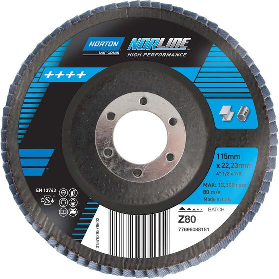 Norton Flap Disc - 80 Grit, 115mm, , scanz_hi-res