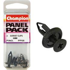 Champion Scrivet Clips - 6mm, P08, Panel Pack, , scanz_hi-res