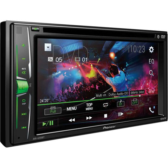 Pioneer 6.2inch Touchscreen DVD Player with Bluetooth - AVH-A205BT, , scanz_hi-res