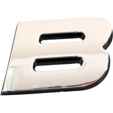 SCA 3D Chrome Badge Letter B, , scanz_hi-res
